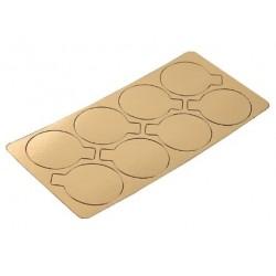 mini cardboard gold - round - Ø 8 cm