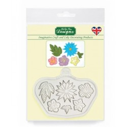 stylised flowers silicone mould - Katy Sue