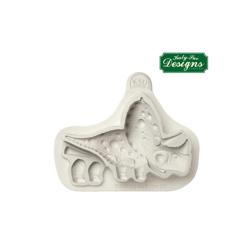 moule en silicone triceratops - Katy Sue