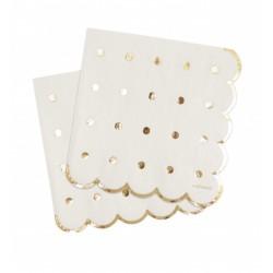 20 napkins - gold - ScrapCooking
