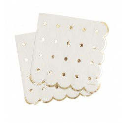 20 serviettes - gold - ScrapCooking