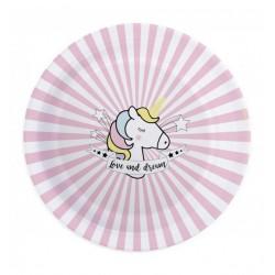 8 assiettes - licorne - ScrapCooking