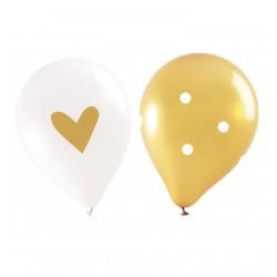 6 balloons - gold - ScrapCooking