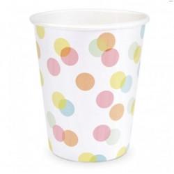 8 gobelets - confettis 25 cl - ScrapCooking