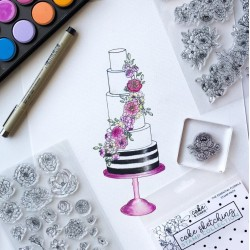 clear stamp - floral essentials