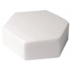 Polystirène hexagone - 24,4  x  H 7,5 cm - Culpitt