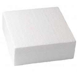 "Polystyrene square 10 x 10 x H 5 cm (4"" x 4"" x H 2"") - Culpitt"