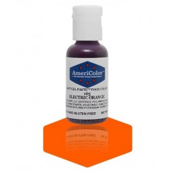 "Americolor concentrated edible coloring color ""electric orange"" 0.75oz"