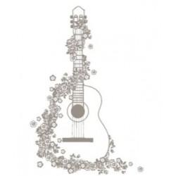 wooden stamp - guitar - 50 x 70 mm - Artemio