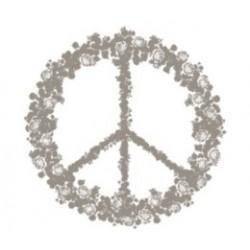 tampon bois - peace&love 58 x 60 mm - Artemio