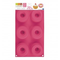 Silicone cake mold - 6 babas and donuts - ScrapCooking