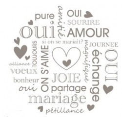 wooden stamp - wedding text - Artemio