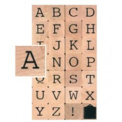 wooden stamp - alphabet- Artemio