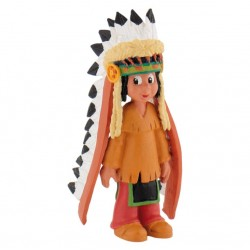 Figurine - Yakari avec coiffe plumes - Yakari