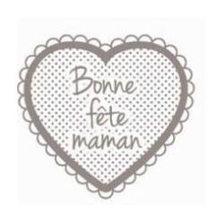 tampon bois - bonne fête maman - Artemio