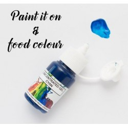 gel concentré cyan / bleu cyan - 15ml - Rolkem