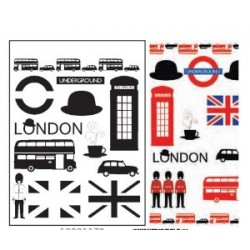 clear stamp - modern London - Artemio