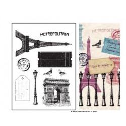 tampon transparent - Paris vintage - Artemio