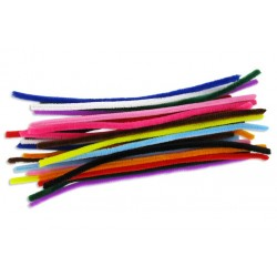 set de 50 chenilles - Longueur 30 cm - Ø 9 mm - couleurs assorties
