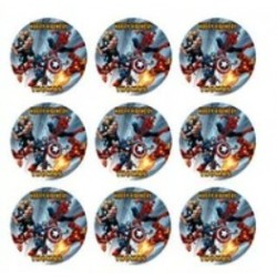 Impression alimentaire rond 15 x ⌀ 5 cm prédécoupé