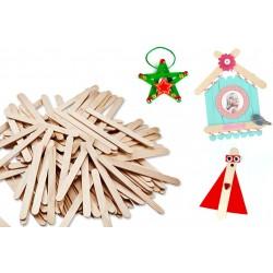 wooden sticks - 100 pieces - 11,4 cm