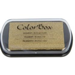encreur colorbox - gold - 7,5 x 4,5 cm