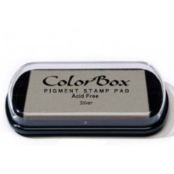colorbox inkpad - silver - 10 x 6,3 cm