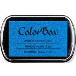 encreur colorbox - cyan - 10 x 6,3 cm