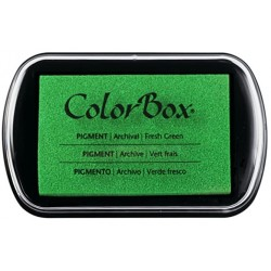 encreur colorbox - vert frais - 10 x 6,3 cm
