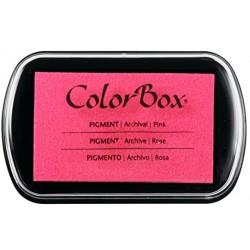 encreur colorbox - rose - 10 x 6,3 cm
