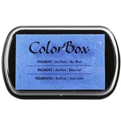 encreur colorbox - bleu ciel - 10 x 6,3 cm