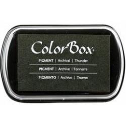 encreur colorbox - classic pigment- tonnerre - 10 x 6,3 cm