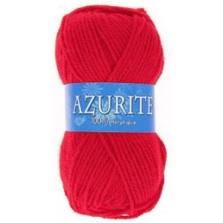 Azurite wool ball - red