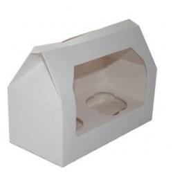 boîte à 2 cupcakes & insert - blanc