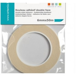 Double-sided adhesive tape - 6 mm x 50 m - Artemio