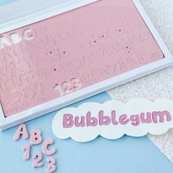 Set complet embosseur lettre majuscule, minuscule, nombre & symbole - Bubblegum - Sweet Stamp Amycakes