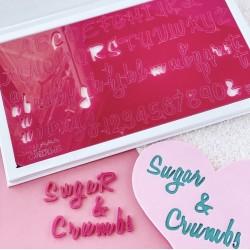 Set complet embosseur lettre majuscule, minuscule, nombre & symbole -  Sugar & Crumbs - Sweet Stamp Amycakes
