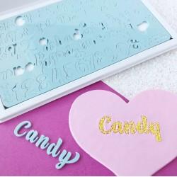 Set complet embosseur lettre majuscule, minuscule, nombre & symbole - Candy - Sweet Stamp Amycakes