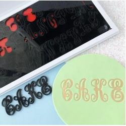 Set complet embosseur lettre majuscule, minuscule - Monograms by Evil Cake Genius - Sweet Stamp Amycakes