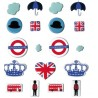 Parisian fasteners - London x 19 pcs - Artemio