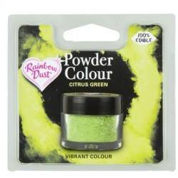 """colorant en poudre """"Powder Colour"""" citrus green/vert d'agrumes - 3g - RD"""