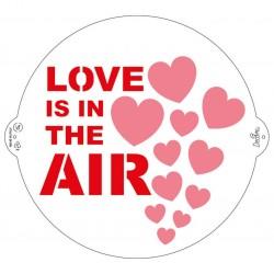 Stencil - Love is in the air - ø 25 cm - Decora