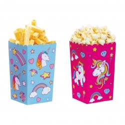 Unicorn party box - 7 x 7 xh 14 cm - Decora