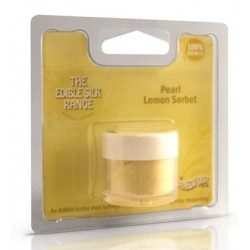 Edible Silk - pearl lemon sorbet / sorbet au citron perlé - 3g