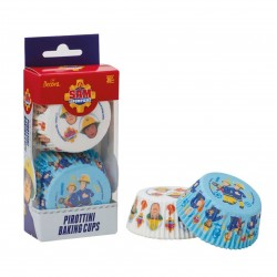 """caissettes à cupcake  papier - """" Sam le pompier """" - 36pcs - ø 50 x 32 h mm - Decora"""