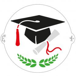 "Stencil ""graduation"" - Decora"