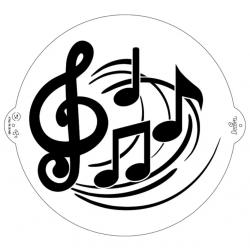 "Stencil ""notes de musique""..."