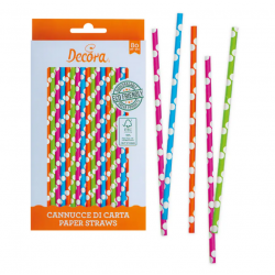 80 pailles multicolores -...