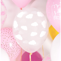 6 ballons - nuages -...