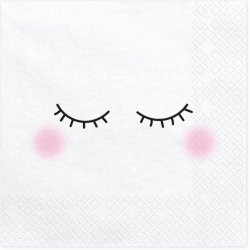 20 napkins - face - PartyDeco